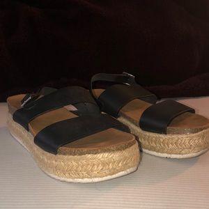 Soda Wedged Sandals